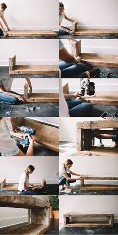 diy home decor furniture Home Decor Furniture, Furniture Projects, Diy Home Decor, Interior Design Living Room, Living Room Decor, Wood Design, House Design, House Styles, Tv Bench