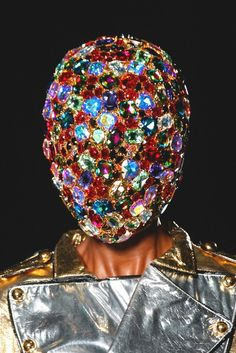 Sleazeburger in Paradise Head Mask, London Spring, Philip Treacy, Face Art, Jewelry Art, Jewellery, Sprinkles, Photo Art, Captain Hat