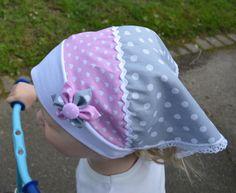 Kopftücher - Kopftuch Graue Punkte
