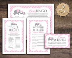 Baby shower games for girls diaper raffle bingo cards 68 best ideas Elephant Baby Showers, Baby Elephant, Baby Shower Fun, Baby Boy Shower, Baby Bingo, Jamel, Elephant Theme, Wishes For Baby, Diaper Raffle