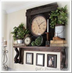 Love this mantel shelf and display!