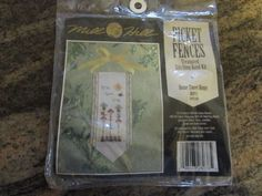 MILL HILL, COUNTED CROSS STITCH KIT, PICKET FENCES, HOME TWEET HOME #MILLHILL #BIRDHOUSES.  eBay item number:131615773093