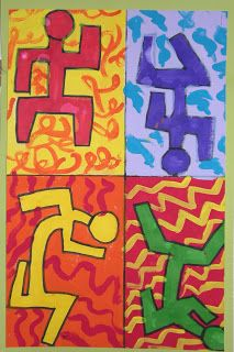 WHAT'S HAPPENING IN THE ART ROOM??: 3rd Grade-Keith Haring Figures