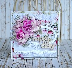 Craft Passion Dies. Piątek Trzynastego papers. Foamiran flowers. Kartka ślubna. Kwiaty z foamiranu. Ślubna kartka dla Craft Passion <3