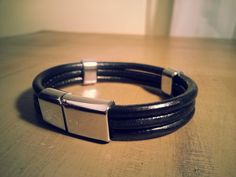 Hey, I found this really awesome Etsy listing at https://www.etsy.com/listing/167855489/mens-leather-bracelet-black-leather