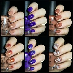 OPI Nordic Collection - My picks and nail art.   http://www.blingfinger.net/2014/08/opi-nordic-collection-nail-art.html