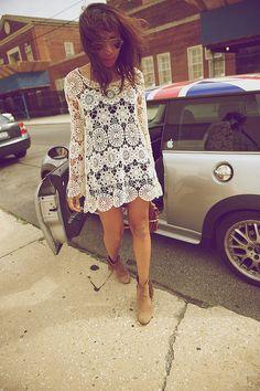 corchet top dress