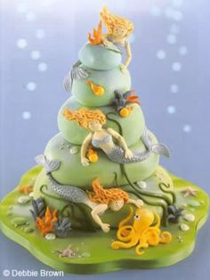 Vivian wants a mermaid theme birthday party....@KatieSheaDesign ♡♡ #Cake♡♡  Mermaid cake