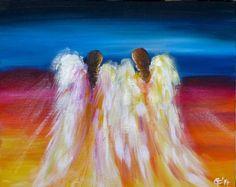 Acrylmalerei - Engel der Farben... - ein Designerstück von carts bei DaWanda