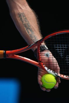 Tattoo detail of Stanislas Wawrinka