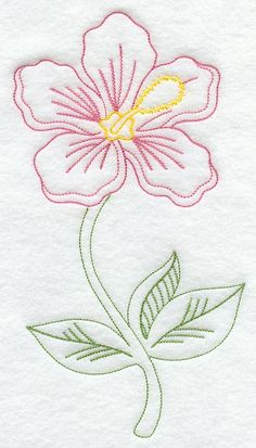 Hibiscus (Vintage) design (C8798) from www.Emblibrary.com