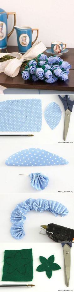 How to make a flower out of tissue?