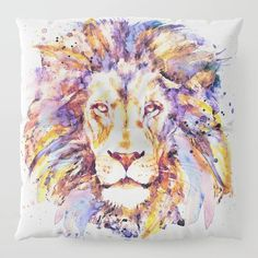 Lion Head Floor Pillow by marianvoicu Cute Gifts, Floor Pillows, Moose Art, Lion, Artist, Artwork, Animals, Beautiful Gifts, Leo
