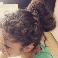 Sloppily Sinion Hairstyle