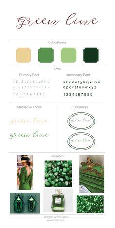 GREEN LINE BRAND BOARD DESIGN / GREEN INSPIRATION