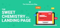 The Sweet Chemistry Of A Landing Page: Master Chemist or Rookie? Growth Hacking, Chemistry, Online Marketing, Landing, Bar Chart, Blogging, Internet, Social Media, Facebook