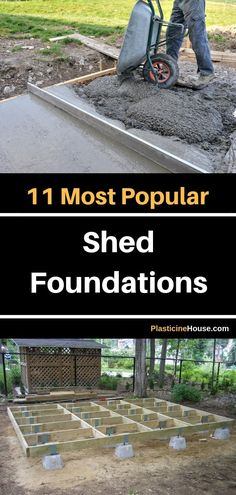 In this post I review 11 most popular shed foundations. via @plasticinehouse