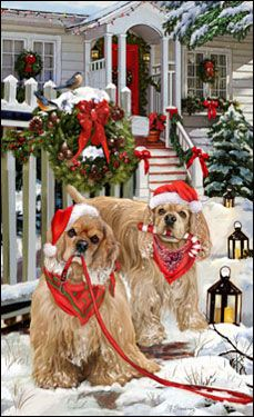 American Cocker Spaniel - Christmas Delivery