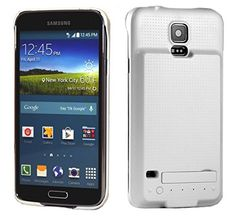 Samsung Galaxy S5 Battery Case 3500mAh Power Case with Media Kickstand by PhoneChargerCase® (White) Phone Charger Case® http://www.amazon.com/dp/B00KTPU2XG/ref=cm_sw_r_pi_dp_XILRtb120SZGZHD6