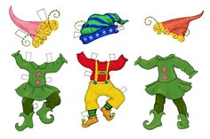 elf cut out patterns | chickpeastudio has these elves that you can make smaller...she has a ...