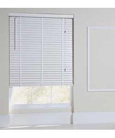 Heart of House Elliott Wooden Tape Blind 90 x 160cm - White.