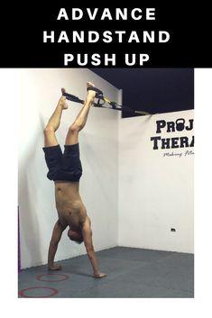 Advance handstand push up! Push Up Challenge, Workout Challenge, Calisthenics, Trx, Body Weight, Fitness Motivation, Daddy, Pilates Reformer, Fit Motivation