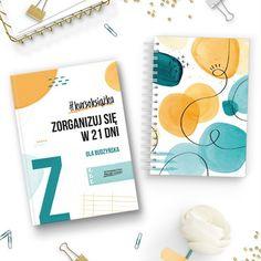 """Chcesz się zorganizować, ale nie wiesz, od czego zacząć? Mamy dla Ciebie idealny zestaw startowy! """"Zorganizuj się w 21 dni"""" to nie jest zwykła książka, a właśnie #kursoksiążka – narzędzie do pracy nad sobą, połączenie książki i kursu. Dlatego w naszym zestawie znajdziesz też kolorystycznie dobrany notatnik, który ułatwi Ci (i uprzyjemni!) pracę. Z tym zestawem praca nad organizacją to czysta przyjemność! Notebook, Bullet Journal, Products, The Notebook, Gadget, Exercise Book, Notebooks"""