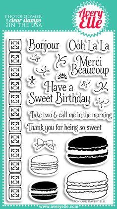 Avery Elle  - Bonjour Photopolymer Stamps, $15.00 (http://www.averyelle.com/bonjour-photopolymer-stamps/)