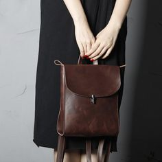 Casual Women's Leather Backpack Cool Style Daypacks Fashion Bag SCY04