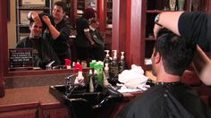 Find #customized #haircuts and #shaves in a classic #barbershop setting at Roosters Men's Grooming Center! #hair #shave
