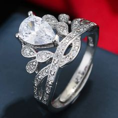 29c6740d0f24 New Luxury silver Color Finger Ring for Women Ladies with Cubic Zircon  Crystal Jewelry Birthday Gift