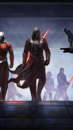 Darth Revan and Darth Malak.. Stole a third of the Rebublic's fleet and turned to the dark side. Badass Sith Lords