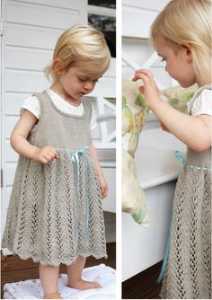 Ribbon Tie Dress in Debbie Bliss Eco Baby - Discover more Patterns by Debbie Bliss at LoveKnitting. The world's largest range of knitting supplies - we stock patterns, yarn, needles and books from all of your favorite brands. Christmas Knitting Patterns, Baby Knitting Patterns, Crochet Bebe, Knit Crochet, Eco Baby, Knitting Supplies, Knitting Projects, Arm Knitting, Kids Knitting