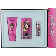 ED HARDY BORN WILD Gift Set I know the Ed Hardy brand has been cheapend by do_dads, trinkets, lighters, car freshners & anything else that can manage to fit an old school style tattoo print on it.  But I do like this fragrance & receive many compliments when I wear it.  Its just a lil embatassing these days to tell ppl what it is when asked.  :-/