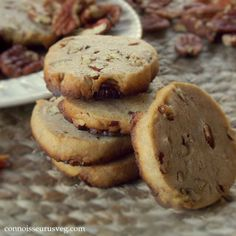 Vegan Pecan Shortbread Cookies