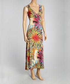 Love this Fuchsia Starburst Cutout Maxi Dress on #zulily! #zulilyfinds