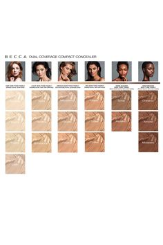 BECCA Dual Coverage Compact Concealer Color Chart :: I'm MAC NC30 / UD Naked 3.5 / 4, L'Oreal True Match W4 (or 3) and chose Tahini since it is the one of the 3 lights w/ a yellow undertone & based on some research...although I'm wondering if Macadamia would have been better, but it wasn't being offered on sale.