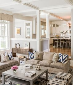 Family room with neutral colors