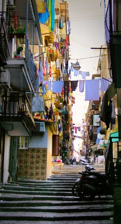 Naples, Italy...clotheslines are something forever connected to my memories of Naples...slj