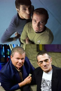 William Shatner & Leonard Nimoy .. space buddies forever!