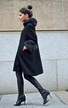 I love a swing coat. This one is vintage. From hauteinhabit.com
