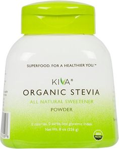 Kiva Organic Stevia Powder (Natural Sweetener) - Non-GMO, Vegan, Zero-Calories- (Sugar Free, NO AFTERTASTE and GROWN IN USA), 8-Ounce *** Special offer just for you. : Baking supplies