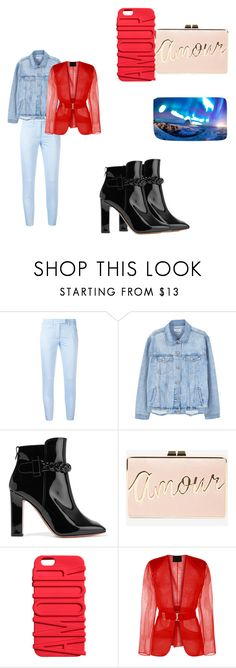 """Untitled #70"" by eddsworldnerd ❤ liked on Polyvore featuring Dondup, MANGO, Valentino and BCBGMAXAZRIA"