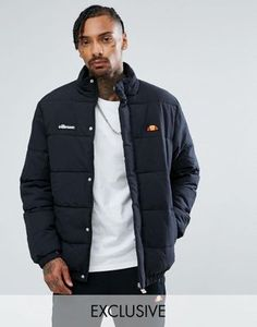 beb9cb070d0 Ellesse Padded Jacket With Small Logo In Black
