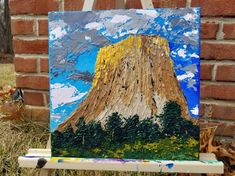 Beautiful Day to Climb: Devils Tower National Monument Wyoming Sailboat Painting, Large Canvas, Friend Pictures, Wyoming, Beautiful Day, Climbing, Devil, Tower, Abstract