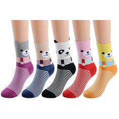 Deer Mum Women Girls Fun Cats Cartoon Sweet Animal Patter...