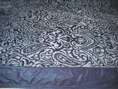 Velvet Lap Blanket ~ Blue Lap Throw