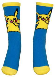 Pokemon Pikachu Chenille Socks: Everyone loves Pikachu!  Which is why we've crafted this fun and very warm Chenille Pokemon Pikachu socks.