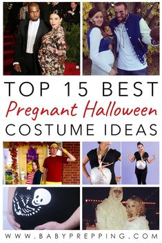Pregnant on Halloween? We've gathered some of the best pregnant Halloween costume ideas for you so you can put together a fun, totally unique costume. Pregnant Couple Halloween Costumes, List Of Halloween Costumes, Halloween Kostüm Baby, Pregnancy Costumes, Maternity Costumes, Maternity Halloween, Costume Ideas, Pregnancy Tips, Hillbilly Costume