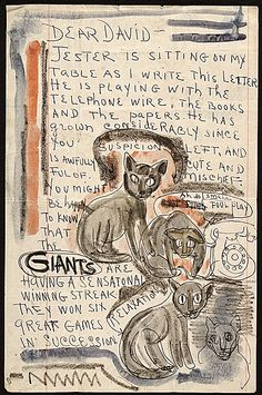 Letter from Moses Soyer to David Soyer, about 1940. Archives of American Art, Smithsonian Institution